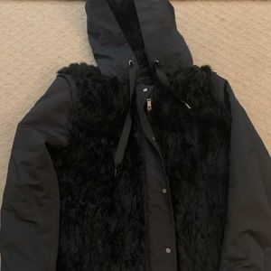 Zara faux fur jacket
